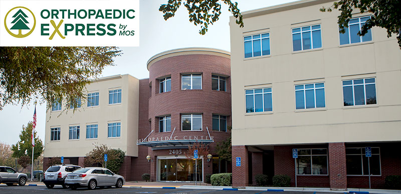 exterior shot of the Orthopaedic Express by MOS Walnut Creek - Sequoia building