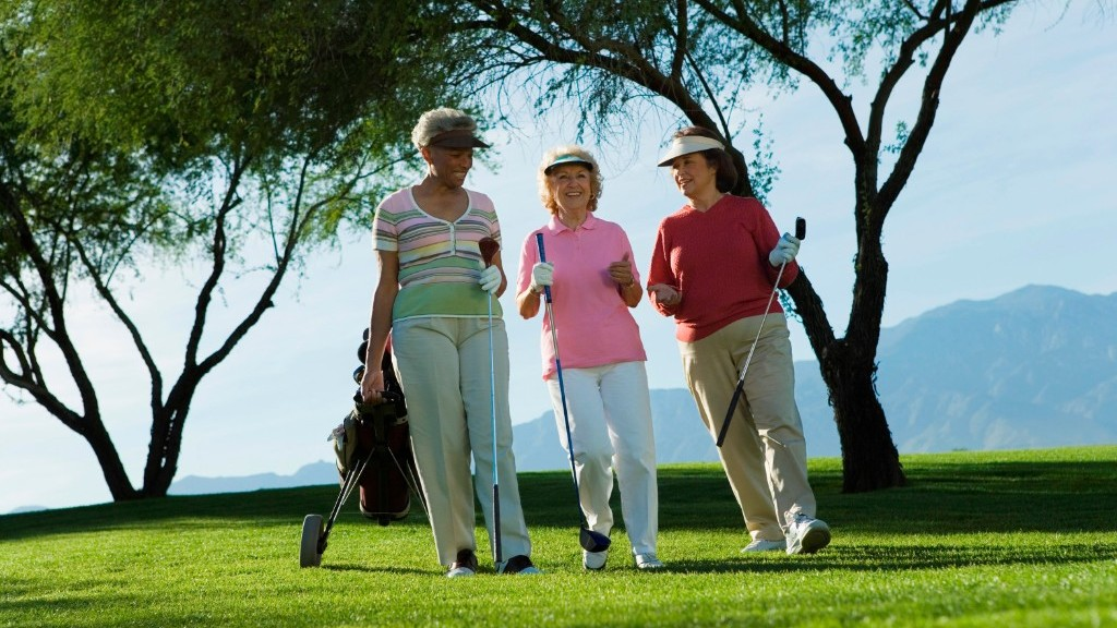 3 women on the golf course