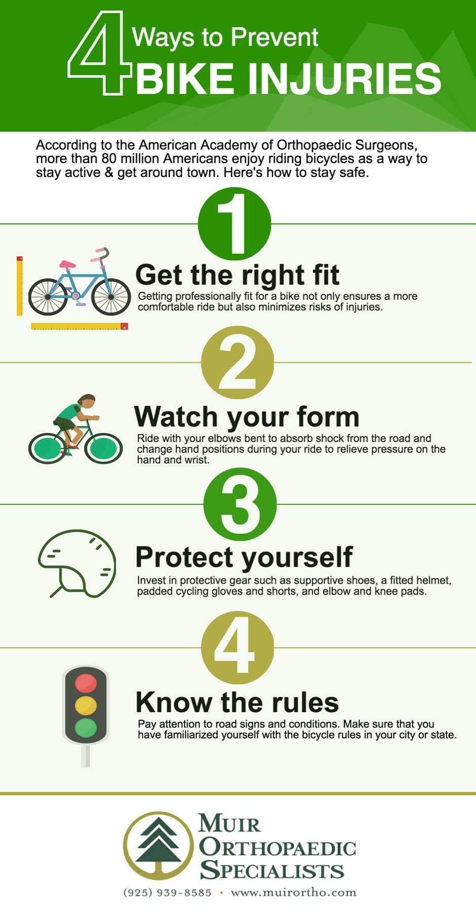 4 Ways to Prevent Bike Injuries infographic