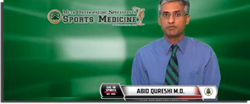 Abid Qureshi talking about sports medicine