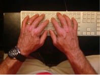 Correct Typing: Straight wrists